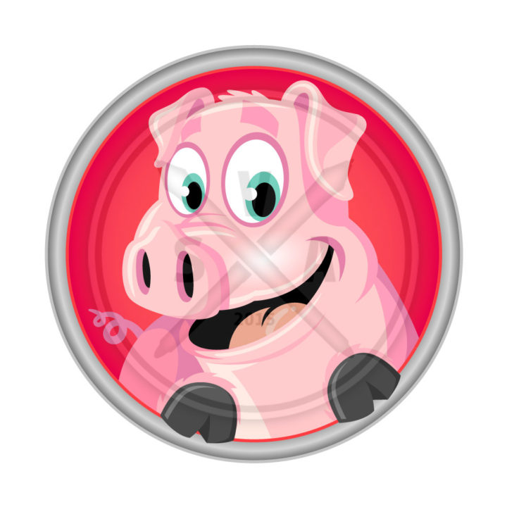 royalty free stock artwork of a cartoon pig great for farm and pork product graphic designs