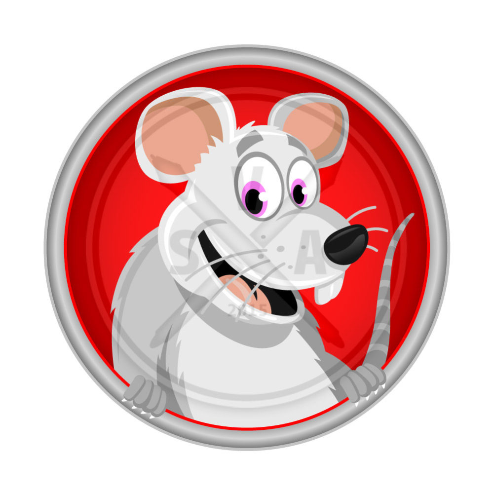 stock vector illustration of a smiling and cheerful fancy rat great for childrens and pet product designs