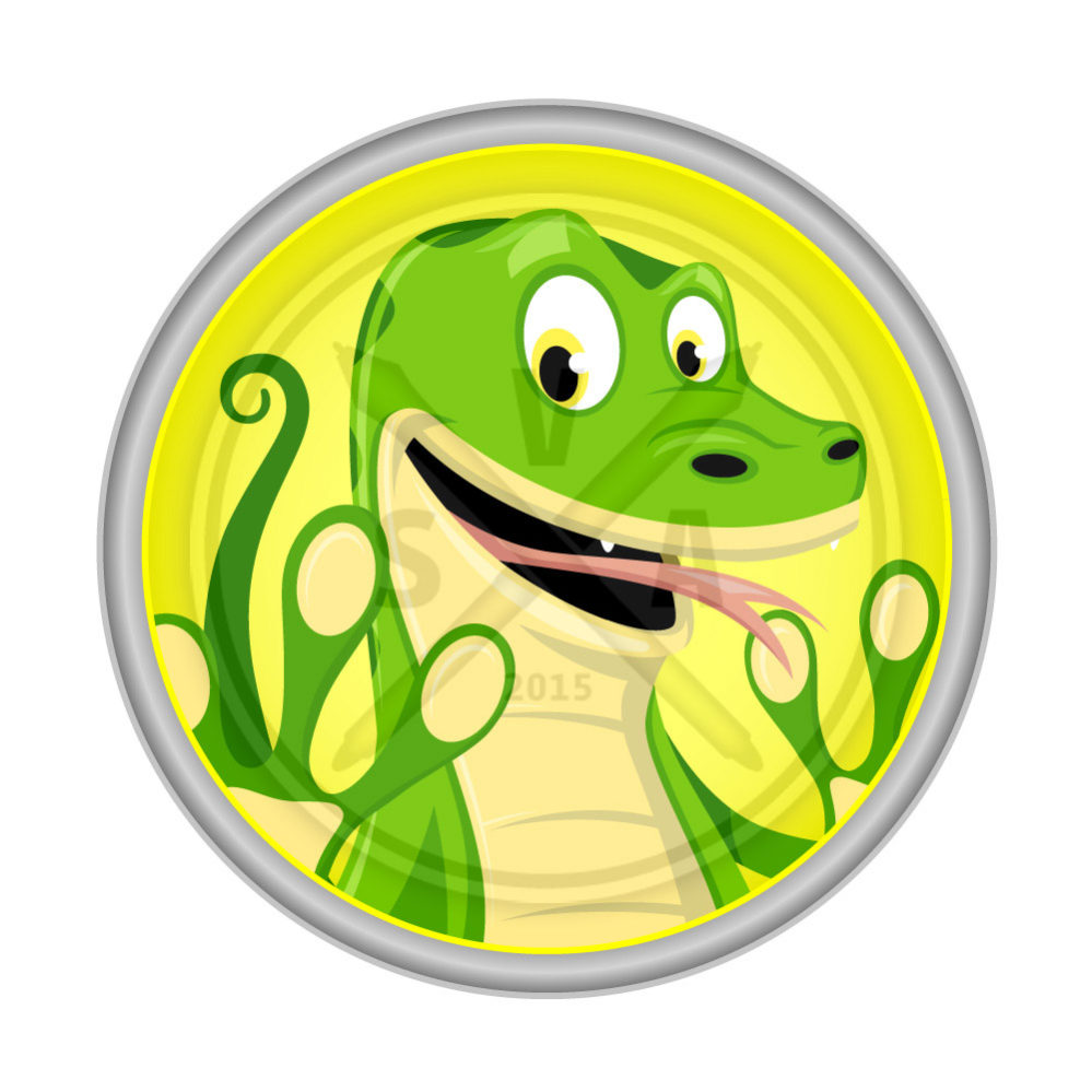 royalty free vector stock image of a happy lizard