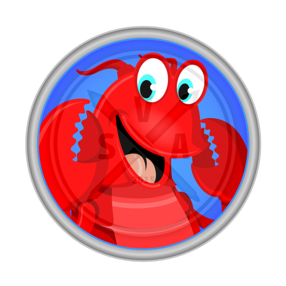 royalty free stock vector image of a smiling lobster