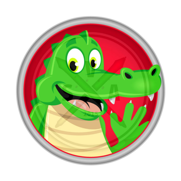 royalty free stock illustration of a smiling crocodile