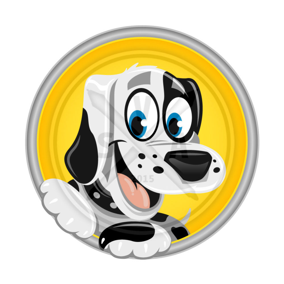 royalty free stock vector illustration of a dalmatian puppy smiling graphic
