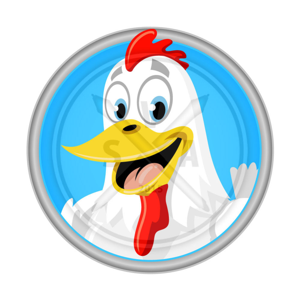 royalty free stock illustration of a smiling chicken or rooster great for childrens and farm designs