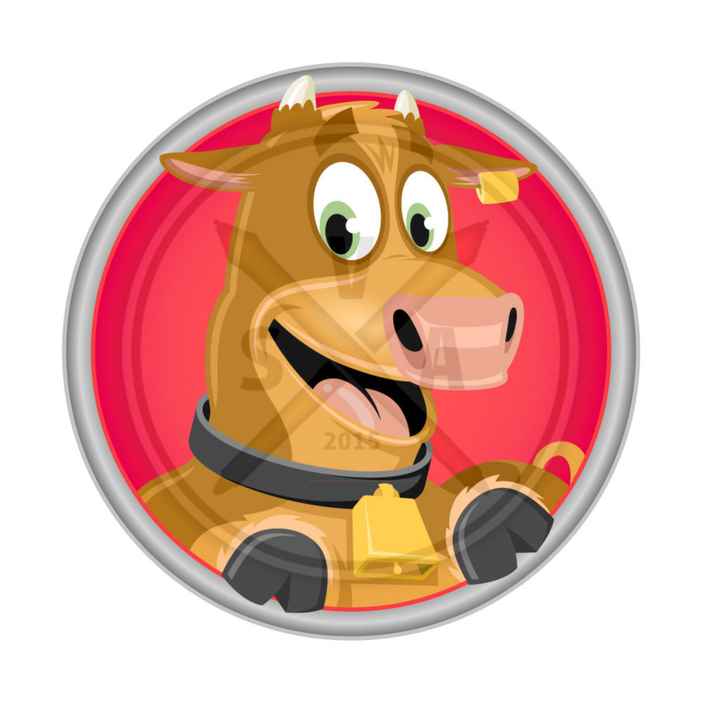 royalty free cartoon stock image of a smiling cow