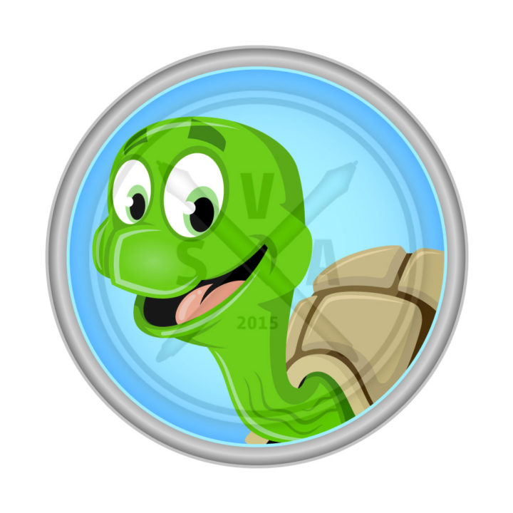 stock vector artwork of a cartoon turtle design for children's graphics