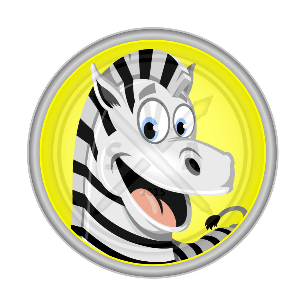 stock vector art of a cartoon zebra smiling availabe for instant download