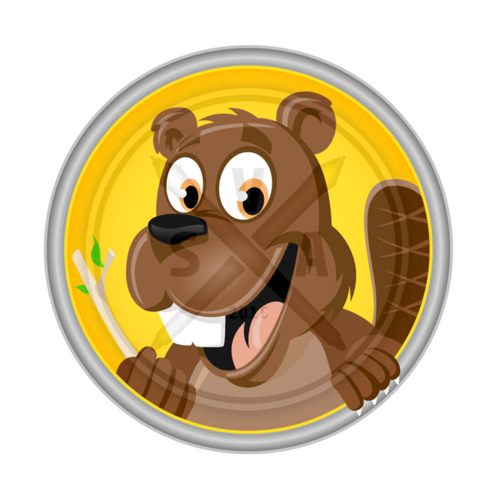 stock vector artwork of a cartoon beaver created in adobe illustrator
