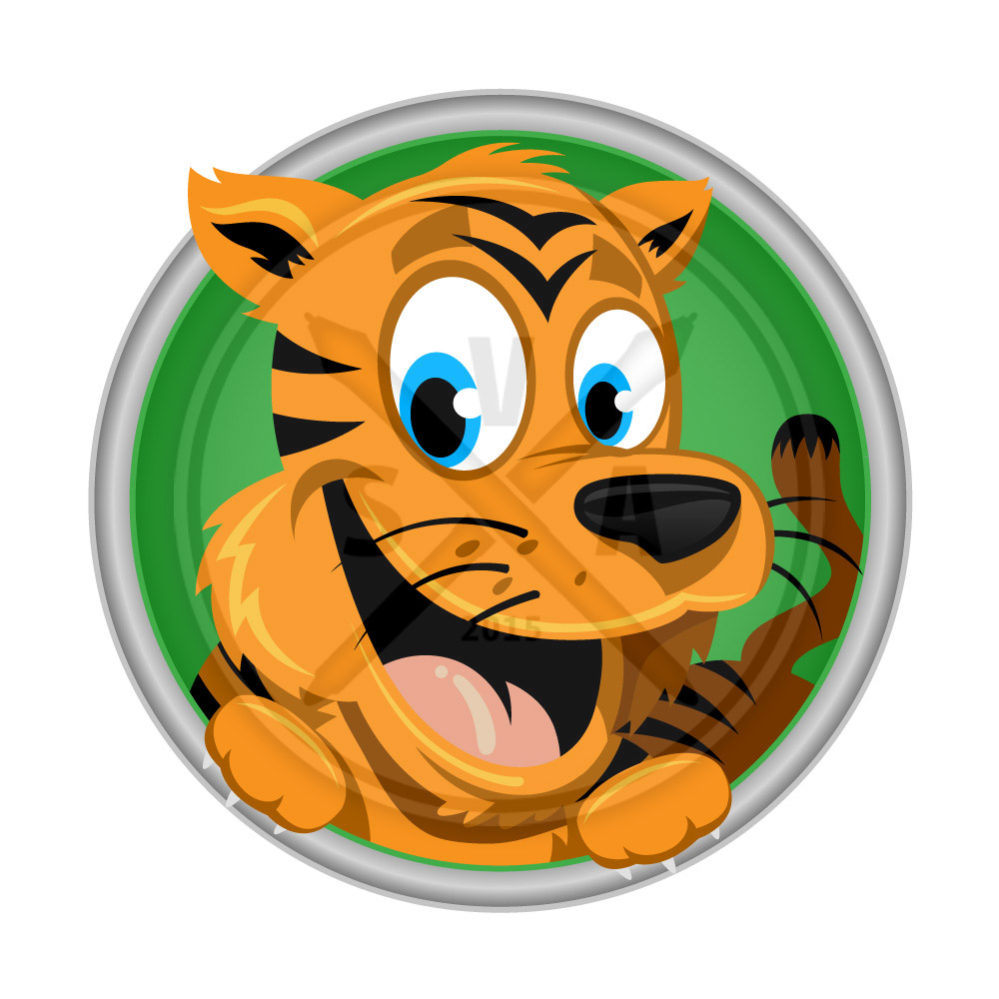 happy tiger cartoon stock illustration