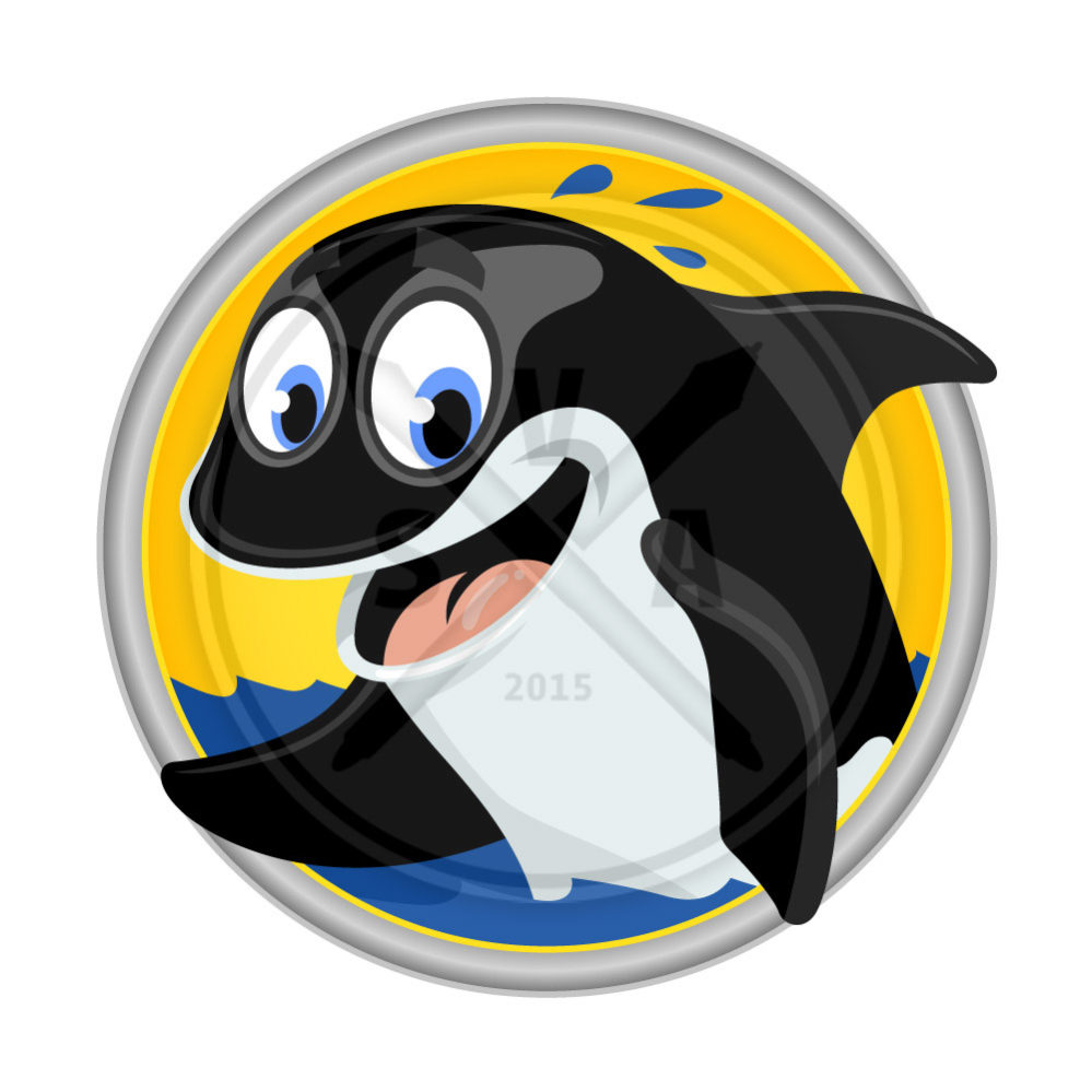 stock adobe illustrator vector graphic of a white and white orca killer whale cartoon great for childrens designs