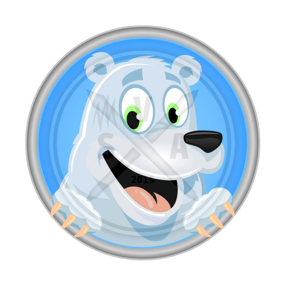 stock cartoon vector artwork of a polar bear great for design projects for children