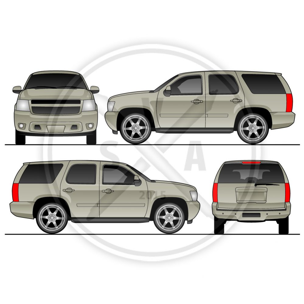 tahoe suv luxury truck stock illustration for branding and graphic design