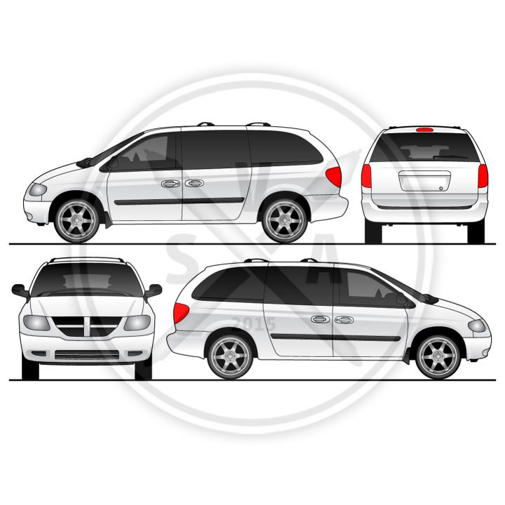 stock vector caravan van template for branding and wrap designs