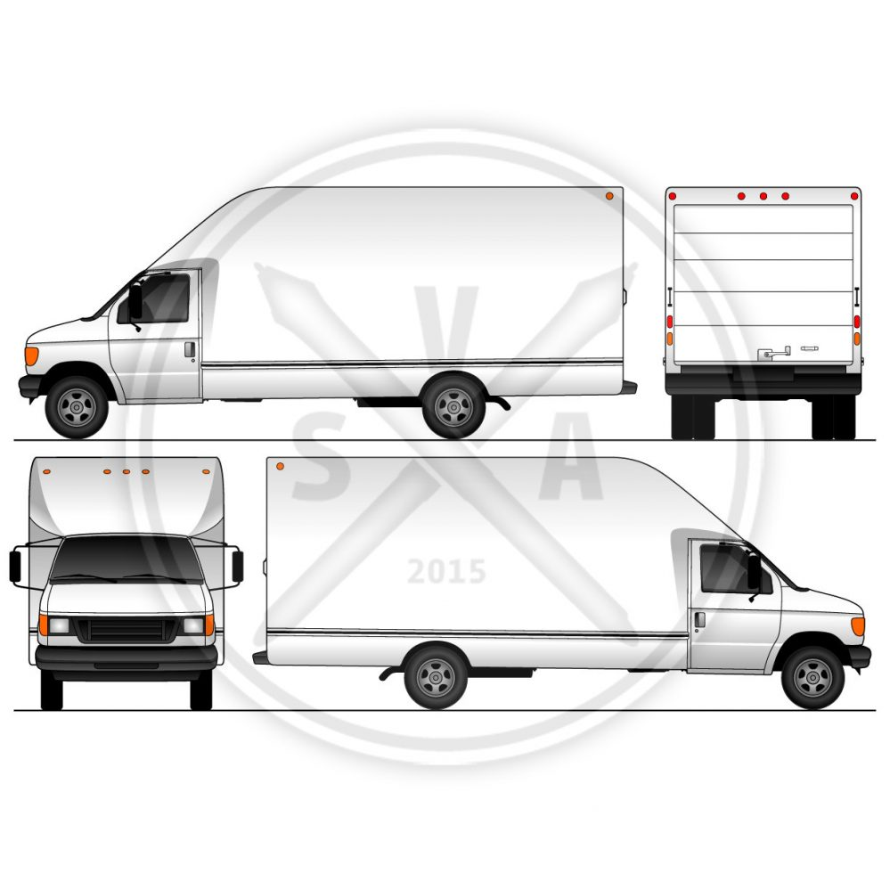 stock vector template of unicell cubevan