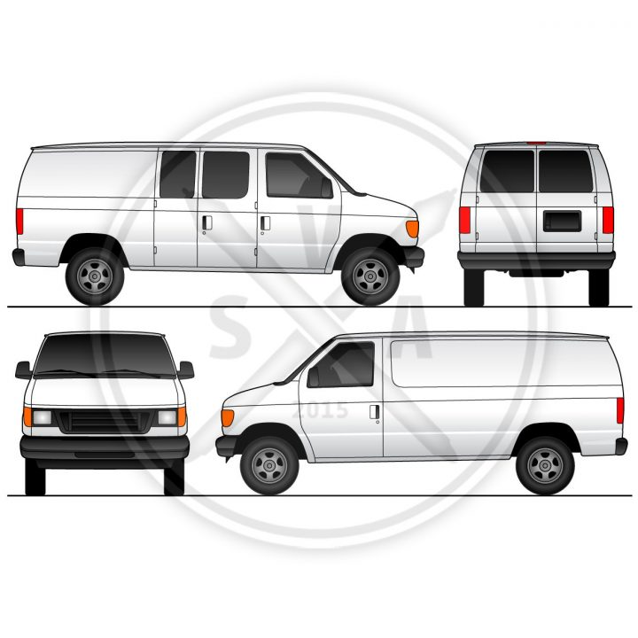 swinging door blank vector stock of ford cargo van