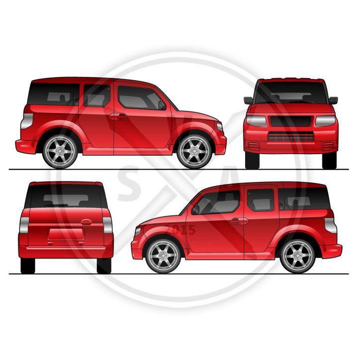 royalty free stock image of honda element suv vector eps