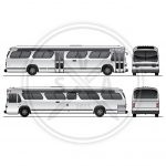 Old City Bus Graphics Template