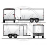 Utility Trailer Vehicle Outline