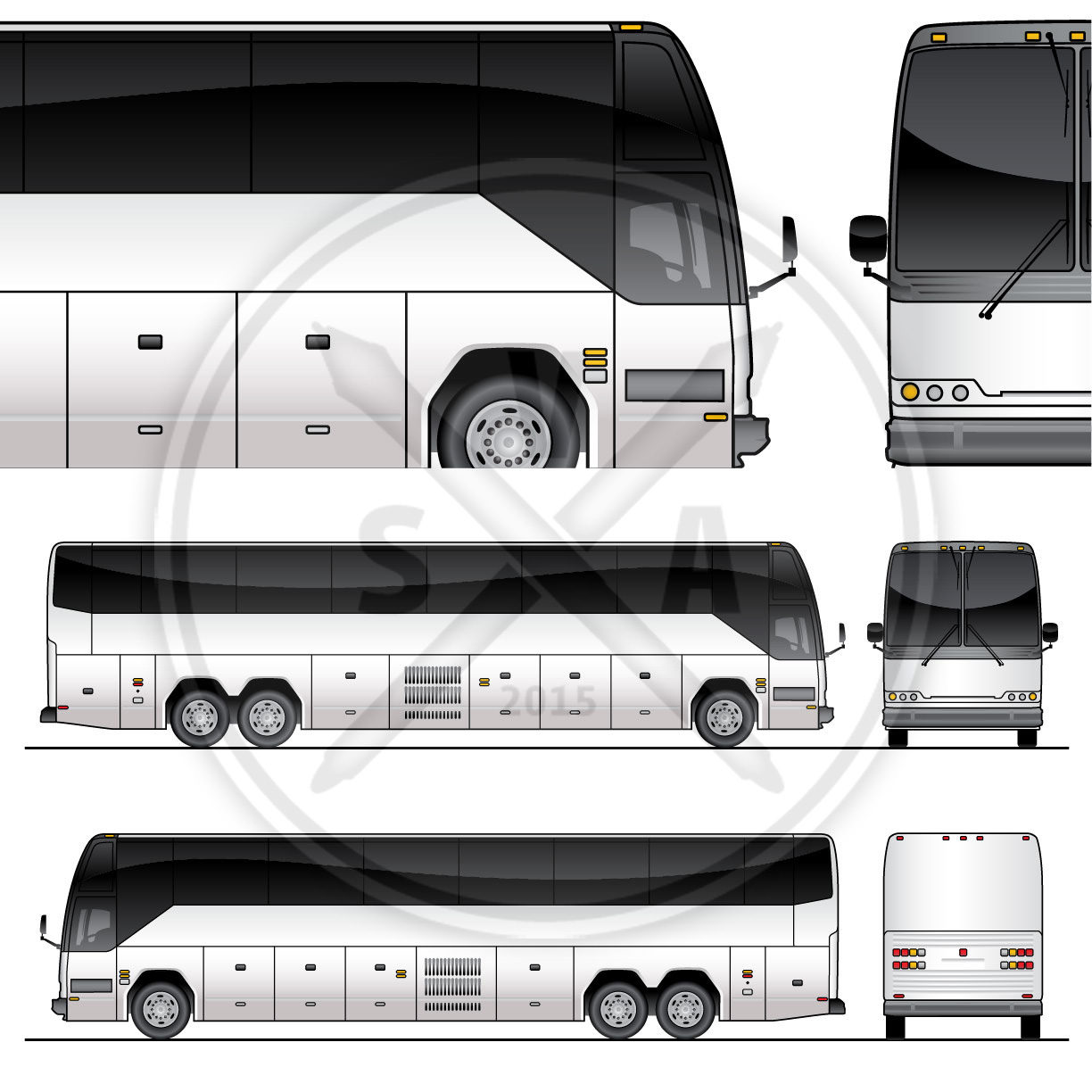 tour bus graphics template stock vector art With tour bus design template