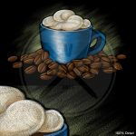 Stock Chalkboard Cappuccino Illustration