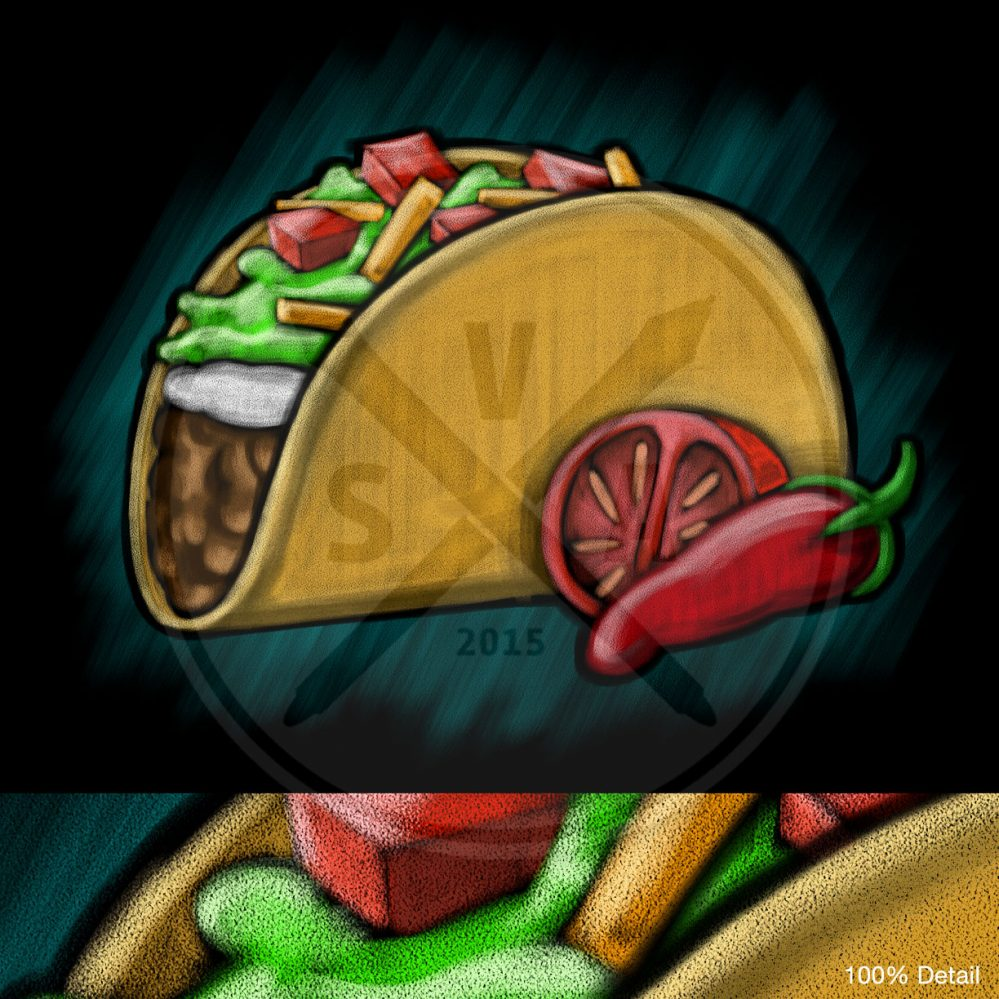 blackboard style drawing of a taco for restaurant menu stock illustrations