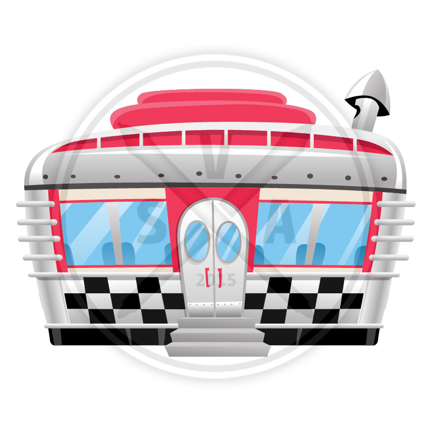 vector retro diner cartoon graphics