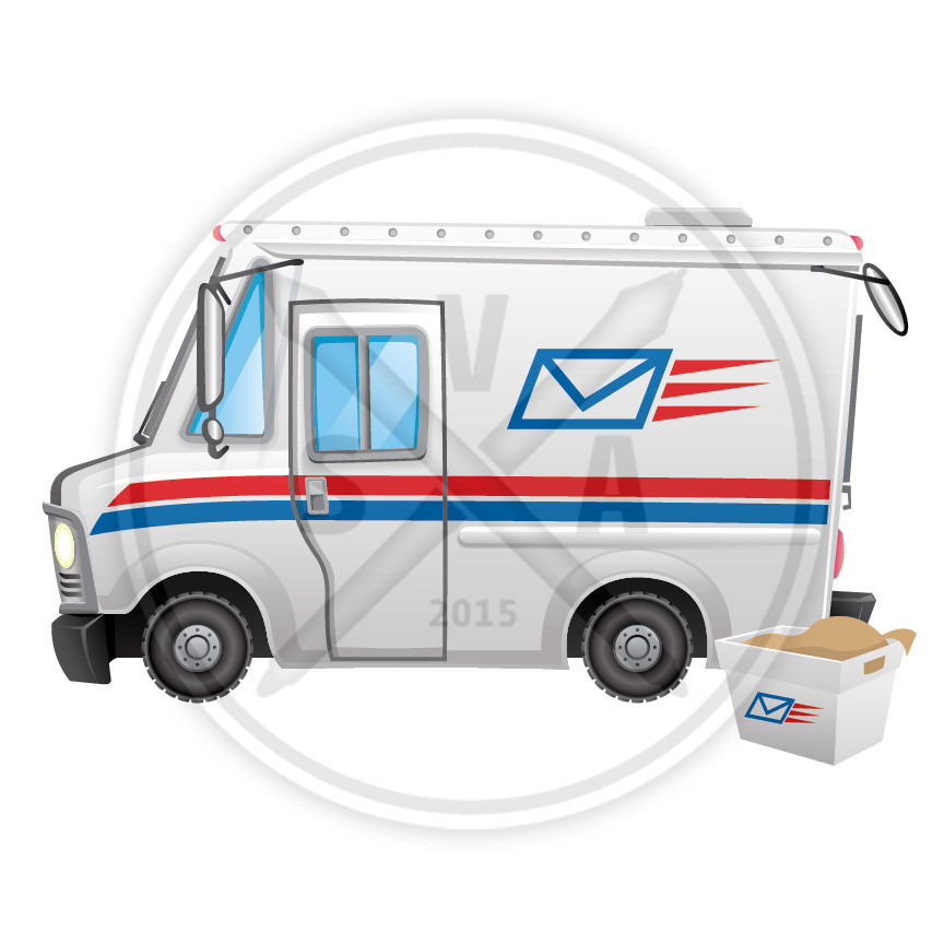 Cartoon Mail Truck