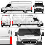Sprinter Van High Roof Long Vehicle Outline
